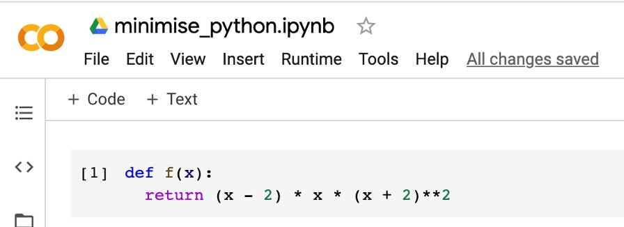 optimize function in Python-1