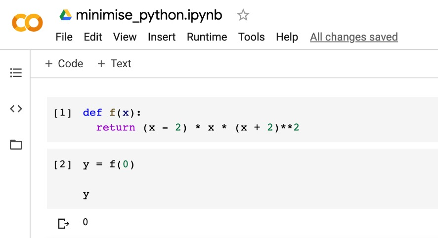 optimize function in Python-2