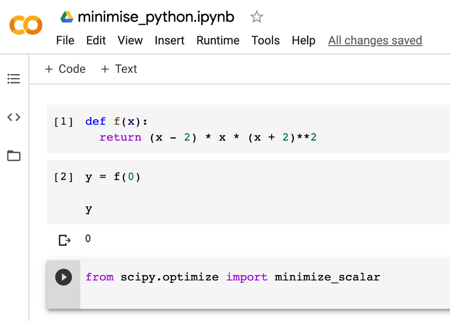 optimize function in Python-3