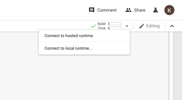 Connecting to hosted or local runtime