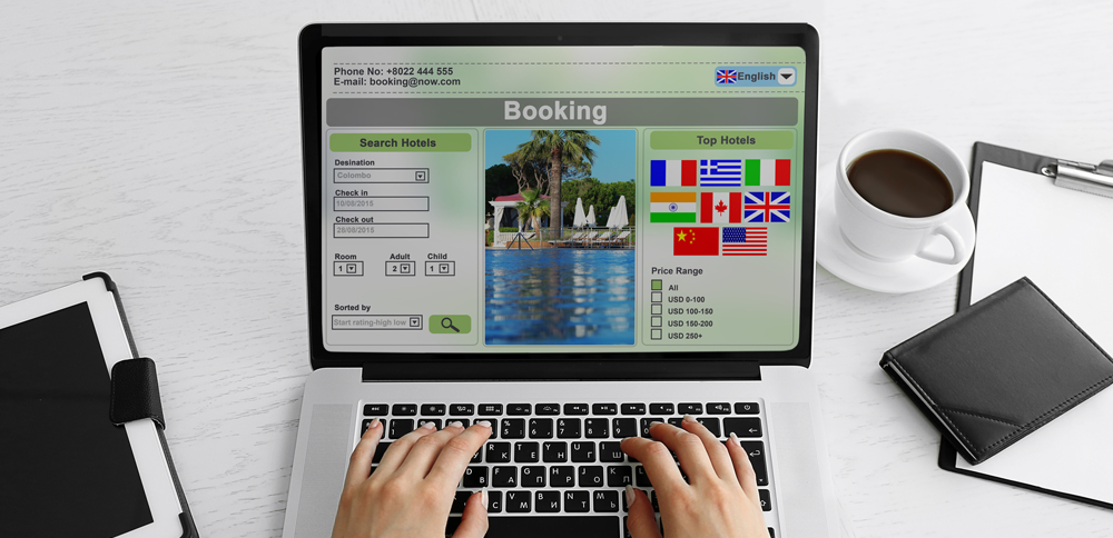 Booking system screenshot