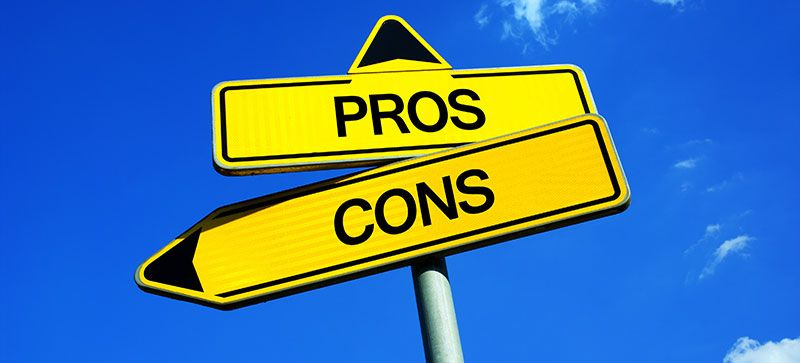 Pros and Cons Sign